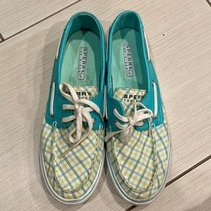 Sperry Top-Sider check flat oxfords.